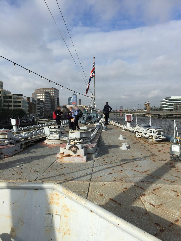 Proa HMS Belfast Londres