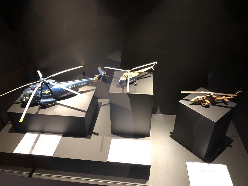 Museo Naval Mar de Alas helicópteros