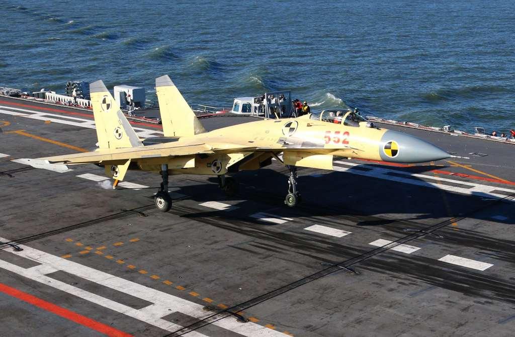 aviones de combate navales J-15