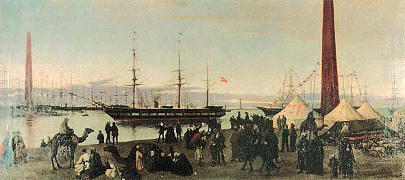 La Berenguela cruzando el canal de Suez