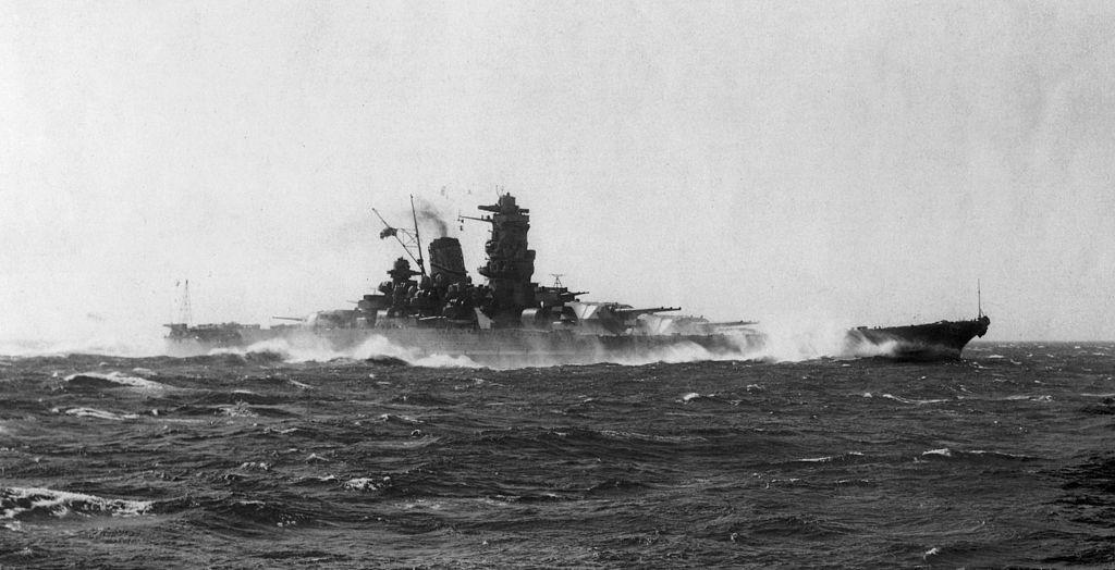 Acorazado Yamato en pruebas