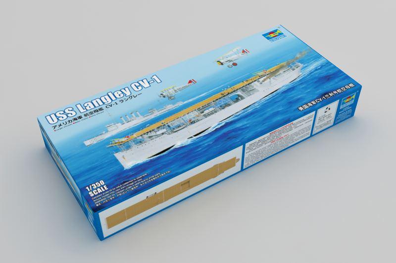 Maqueta portaaviones Langley
