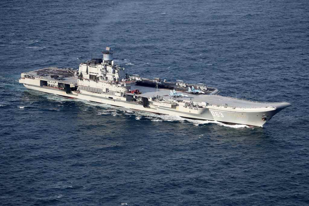 Su33 y MiG29 en el Admiral Kuznetsov